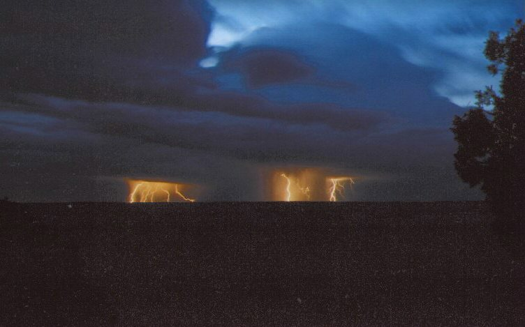 Blue storms over Grand Canyon