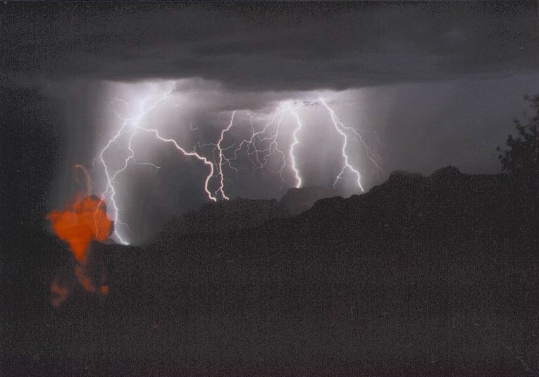 Cloud To Ground Lightning in the canyon