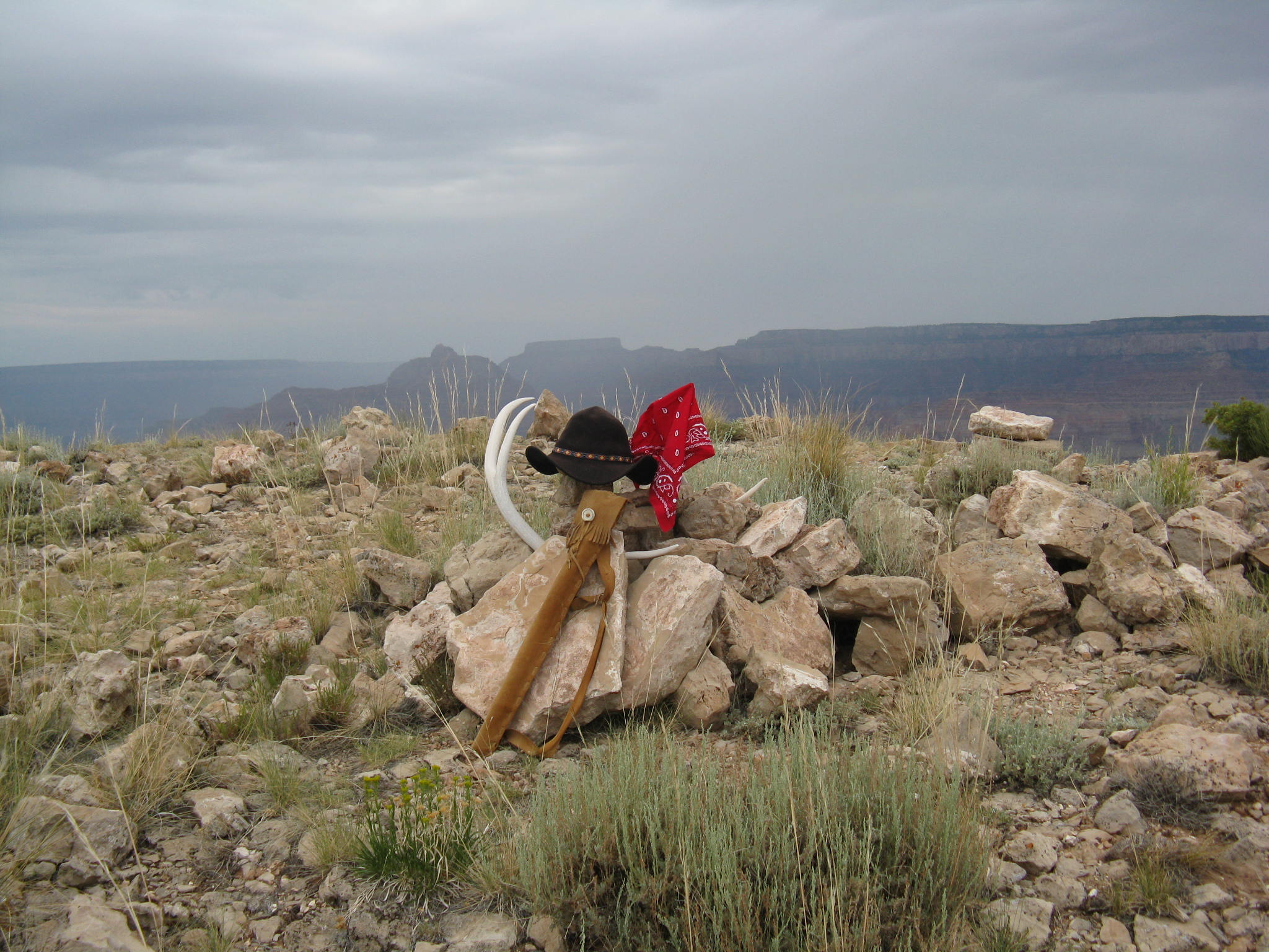 My hat and flute om Comanche Point.