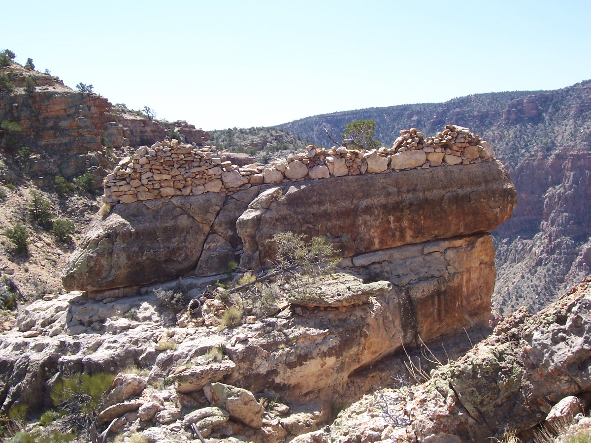 Ruins on the top of a big rock East Rim.