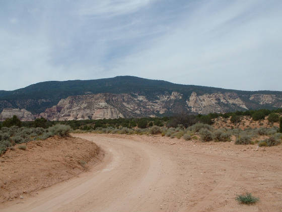 The road to Navajo Mountain.